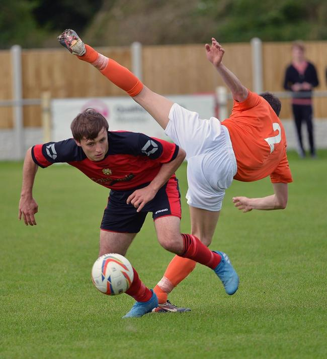 Chris Wademan went close to scoring during Silsden's defeat at Hanley