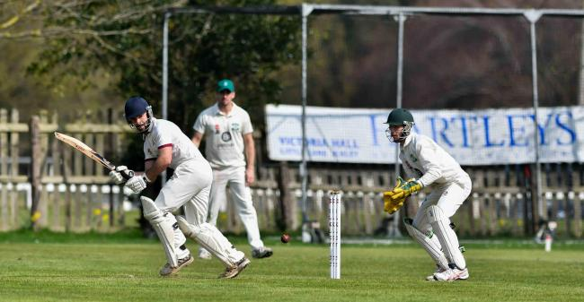 Bradley Goodaire, shown here batting, was in fine form with the ball for Ilkley, taking 6-46 on Saturday
