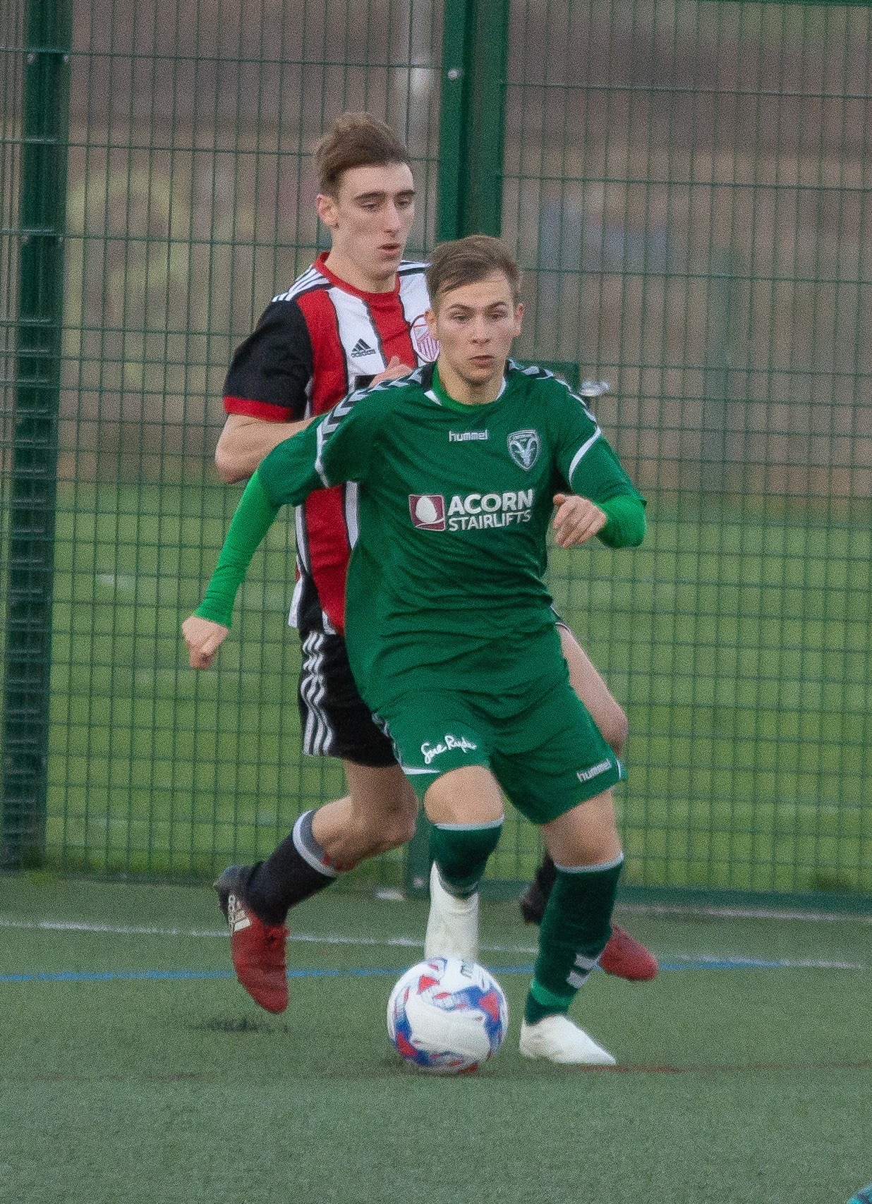Aaron Davis grabbed Steeton's opener in their 2-2 draw with AFC Darwen in Hallmark Security League Division One North on Saturday. Picture: John Chapman.