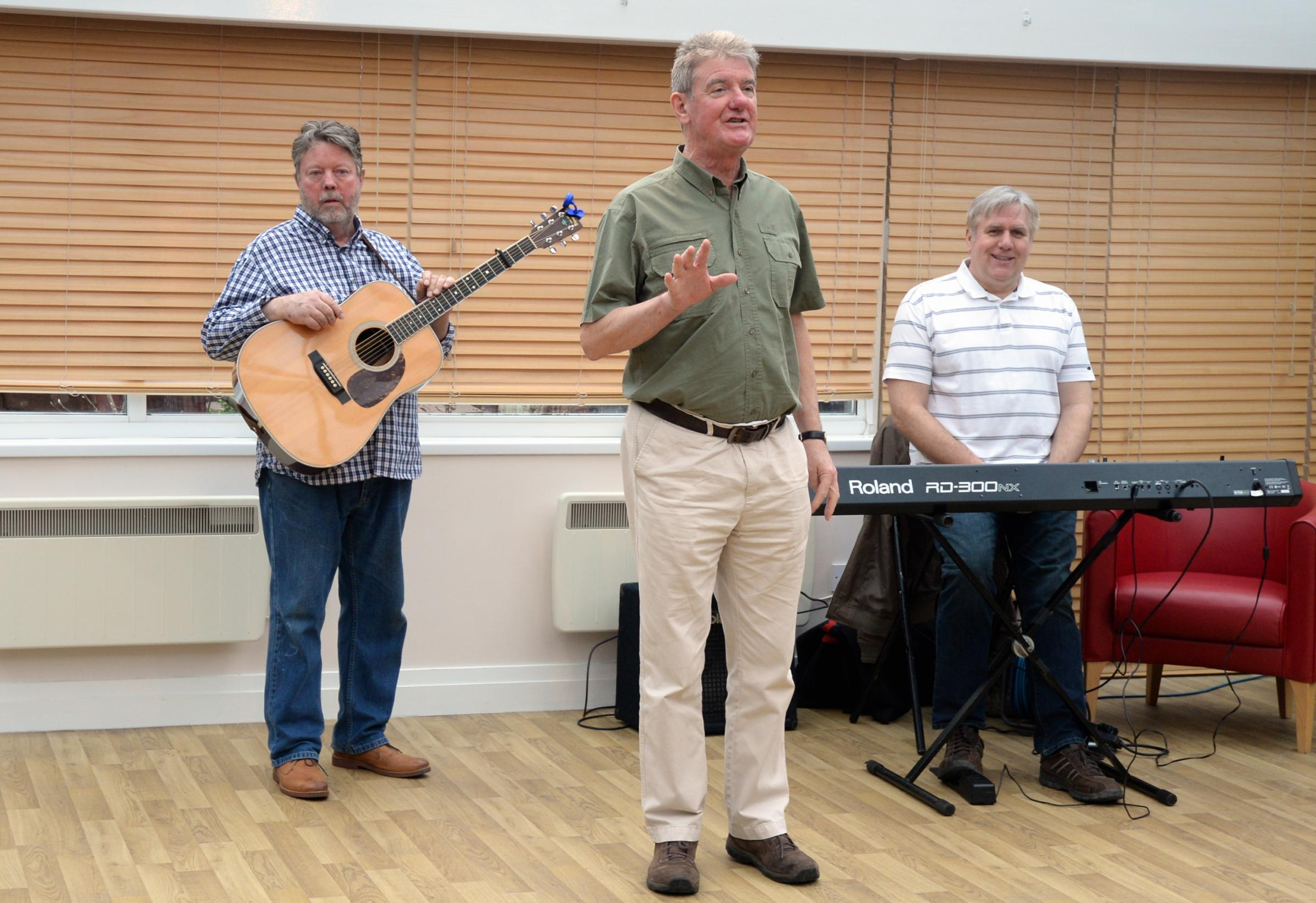 Houghton Weavers when they played for patients at East Lancashire Hospice in Blackburn