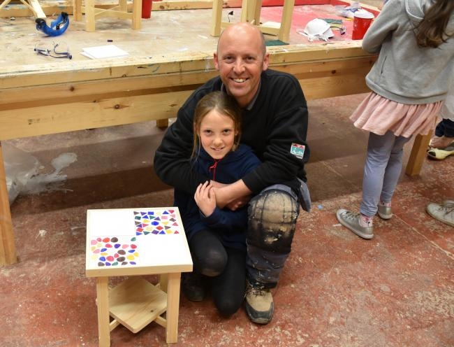 Incommunities joiner Roger Garnett with daughter Gracie, ten, from Keighley