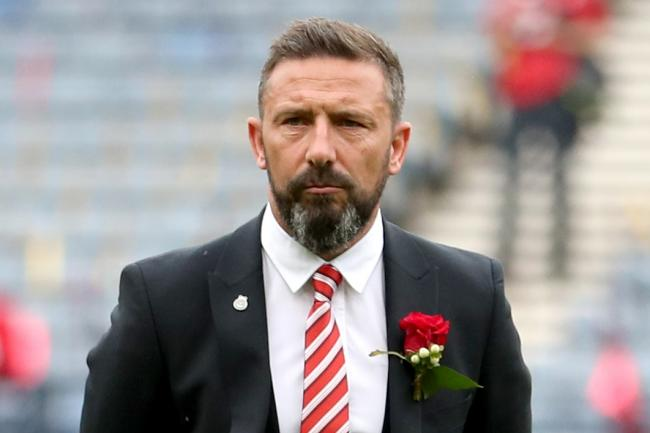 Aberdeen manager Derek McInnes is still being considered for the Scotland vacancy