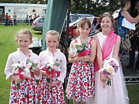 Keighley News: gala queen Georgia Beith with attendants   Lauren Blues, Sophie Dyson, and Natasha Dore