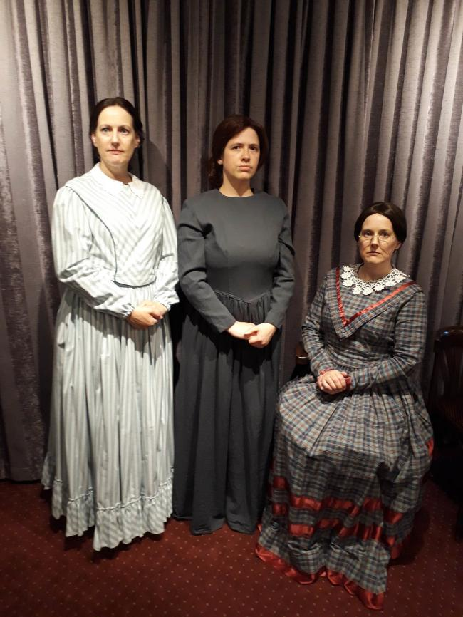 Joanne Milnes, Kate Hames and Tracy Littlewood play Anne Emily and Charlotte Bronte in Bingley Little Theatre's latest production