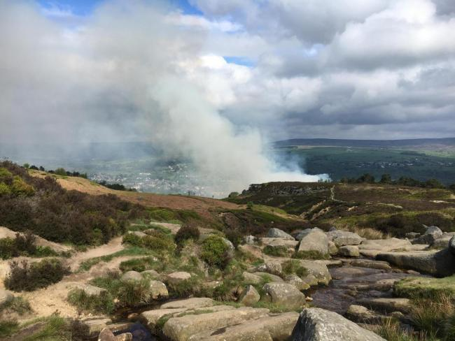 The fire on Ilkley Moor