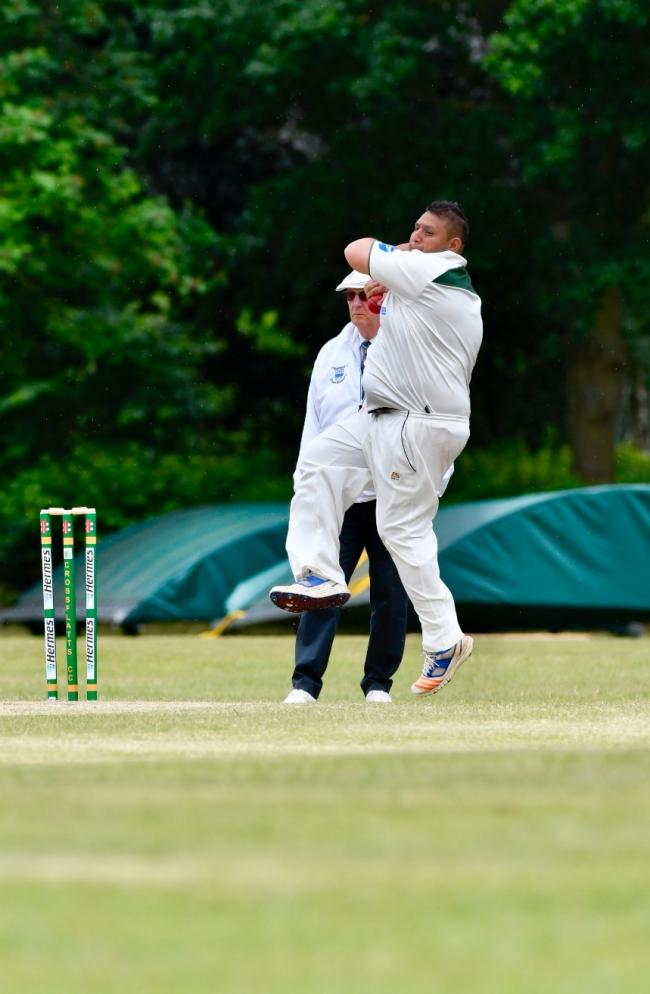 Crossflatts were one of the few team to complete a Craven League game over the weekend, with Wasim Hussain taking 3-17 in their comfortable seven-wicket win over Haworth Picture: Andy Garbutt