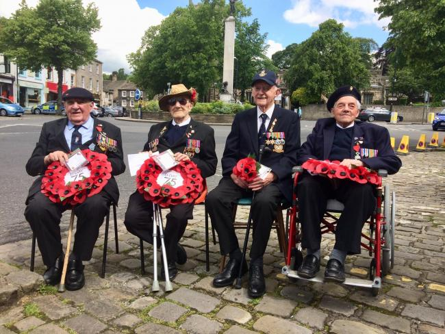 Veterans, from left: Norman Robinson, Dennis Maunders, Len Parry and Gilbert Masters