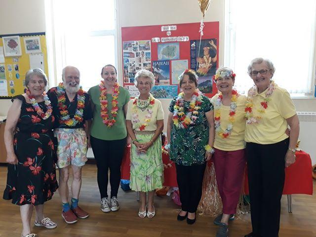 Lees Methodist Church members get into the Hawaiian spirit