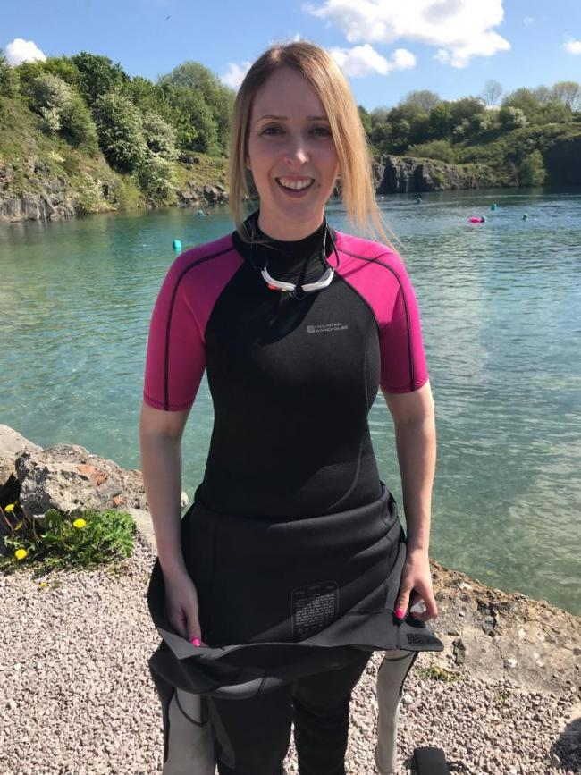 Danielle Brown is gearing up for her next challenge, the John West Great East Swim