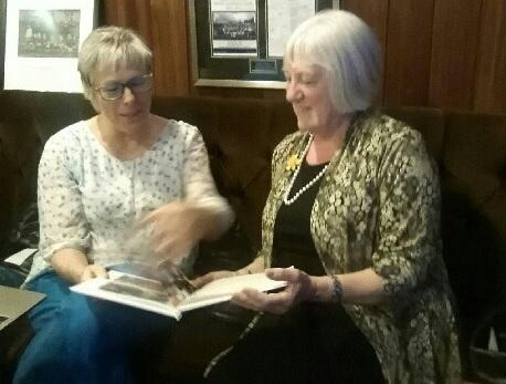 Keighley Soroptimists secretary Julia Allan, left, with speaker Kath Davy